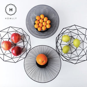 Homlly Black Metal Wire Fruit Storage Basket - Homlly