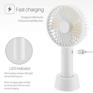 Mini Handheld Fan (Multi Colors) 1200mAh