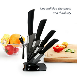Zirconia Ceramic Knife Set with Holder (6pcs)