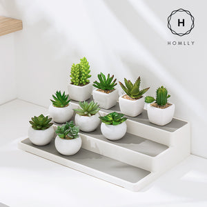 Homlly Non-slip 3 Tier Spice Rack Step Shelf Organizer