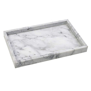 Homlly Carrara 100% Real Marble  Display Plate Tray (30*20cm)