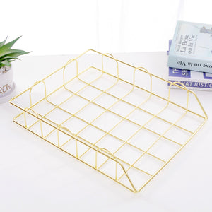 Homlly keii Gold Document Tray