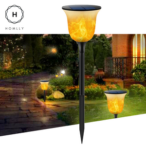 Gardi Modern Solar LED Dancing Flame Standing Classic Torch Light
