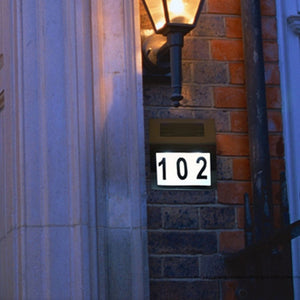 Large Digit Solar Lighted Address Sign House Number