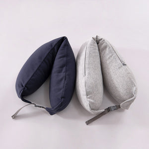 Homlly Travel Neck Pillow with Built-in Hoodie Cap