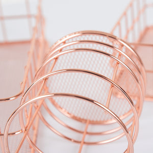Keii Rose Gold Grid Tray Holder