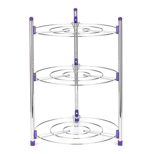 Homlly 3 Tier Round Standing Storage Tower Rack