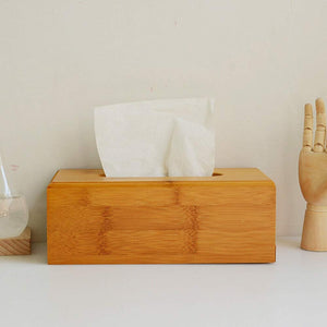 Homlly Bamboo Wood Tissue Box