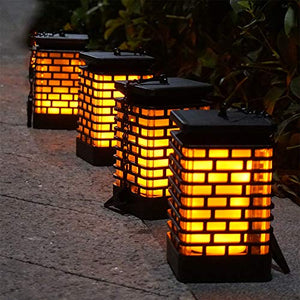 Homlly Outdoor Solar Lantern Lamp (Real Flame mode)