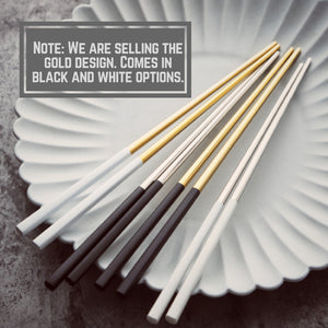 Homlly Keii Gold Chopsticks (1 pair) - Homlly
