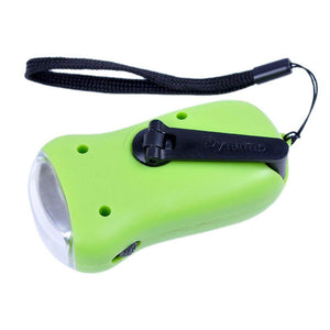 Homlly Solar Hand Crank Dynamo Mini Flash Torch light
