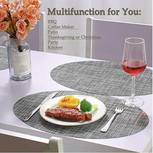 Homlly Ashely Oval Table Mat Set of 4pcs - Homlly
