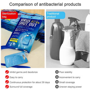 TOAMIT VIRUS SHUT OUT Antibacterial Virus Guard / Blocker Made in Japan USE 30days (Available in 1 5 10 pc)