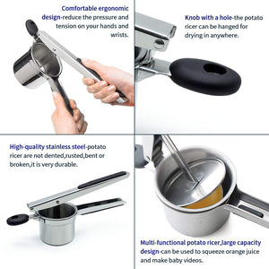 Homlly Manual Potato Ricer Food Masher