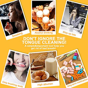 Homlly Tongue Scraper Oral Cleaner Dental Kit Adults & Kids
