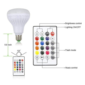 LED Bluetooth Music Disco Light Bulb with remote (E27 Bulb)