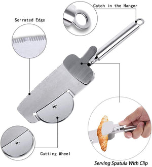 Homlly Pizza cutter + serve spoon