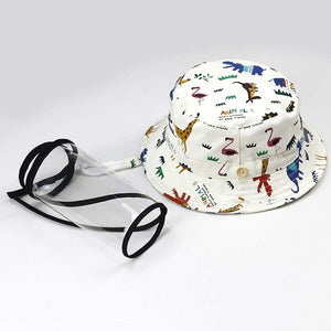 Homlly Kids Fisherman Hat with Face Shield