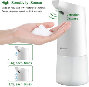 Homlly Touchless Sensor Hand Soap Dispenser (350ml White)