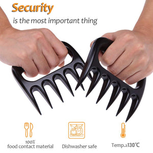 Homlly Meat Bear Paws Claws Handler Forks (1 pair) - Homlly