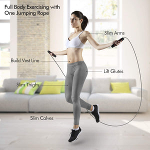 Homlly Adjustable Tangle-Free Skipping Rope with Comfortable Soft Handle