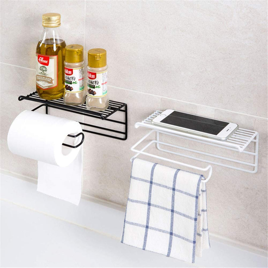 Homlly Line Toilet Roll Handphone Holder Tray
