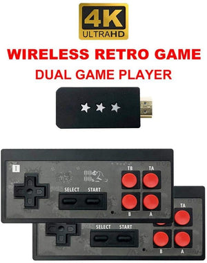 Homlly 4K Retro Video 600 Game Console  with Wireless Controller