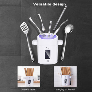 Homlly UV Disinfection Sterilizing Cutlery Container Box