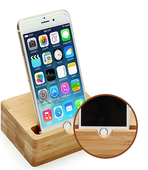 Homlly Woodi Handphone Dock Stand with Charging Slot - Homlly