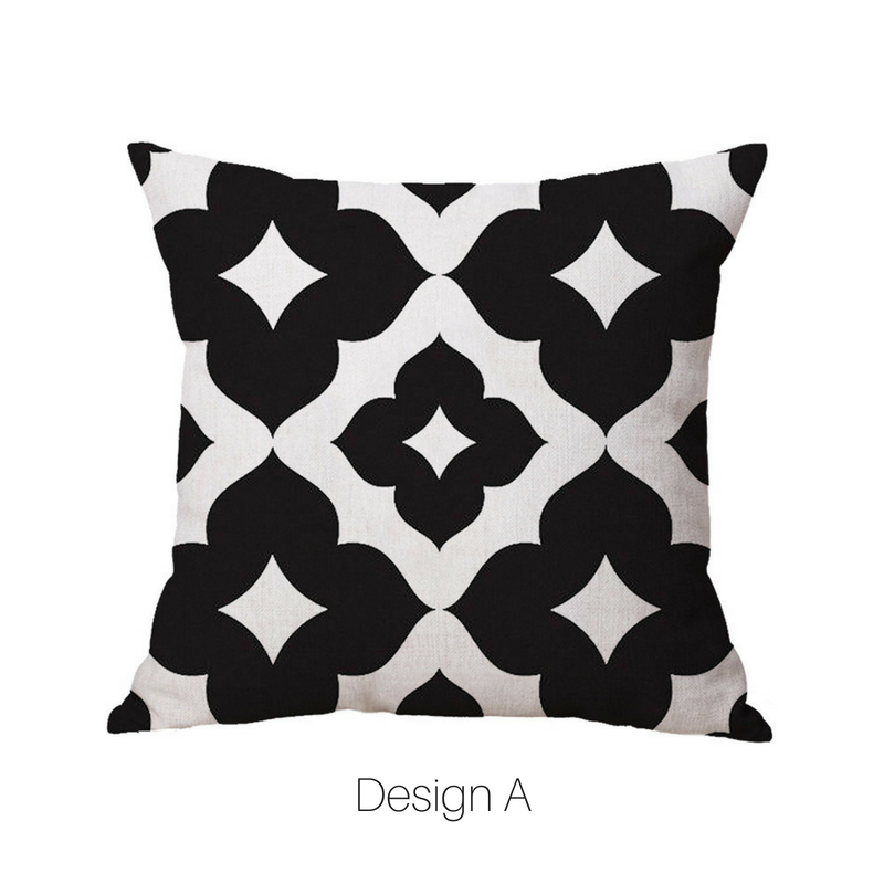 Homlly Geometric Black Cushion Covers - Homlly
