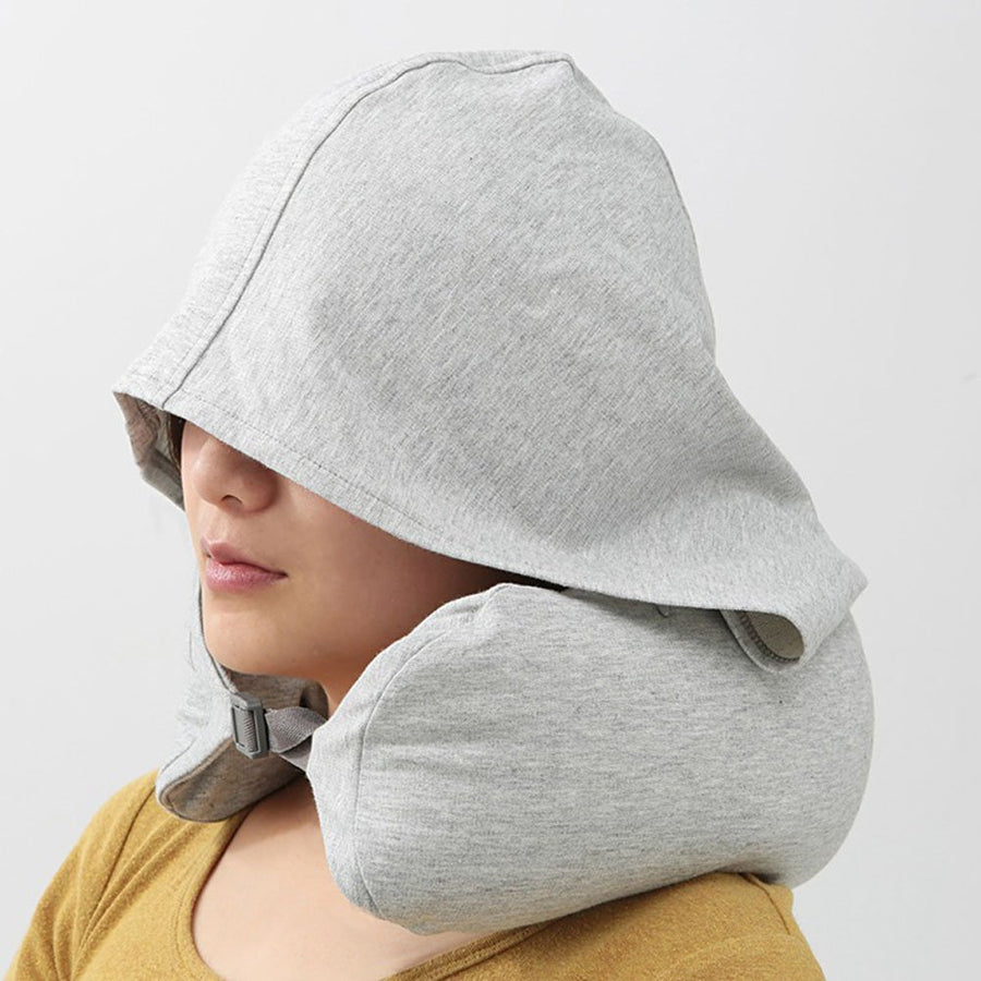 Homlly Travel Neck Pillow with Built-in Hoodie Cap - Homlly