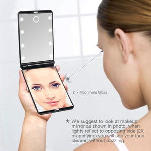 Pocket LED Travel Make Up Mirror