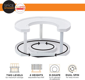 Homlly Spice Spinner Organizer Turntable Rack