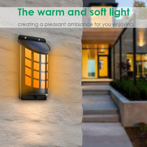 Gardi Solar LED Dancing Flame Wall Mounted Lights - Homlly