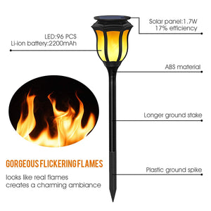 Gardi Classic Solar LED Dancing Flame Standing Torch Light