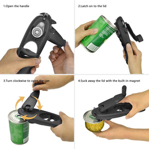 Homlly 8 in 1 Multifunctional Smooth Edge Can Openers