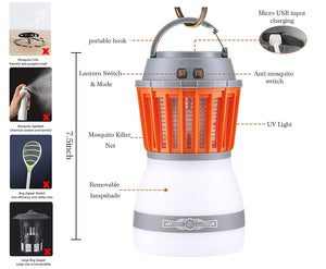 Waterproof Outdoor Insect Killer Light Lamp
