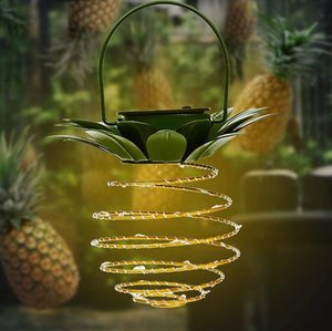 Homlly Solar Pineapple Spiral 24 LED Lantern Lamp Chinese New Year Decoration