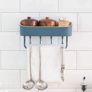 Homlly Wall Mount Shower Basket Kitchen Storage Holder