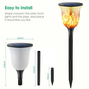 Gardi Modern Solar LED Dancing Flame Standing Classic Torch Light - Homlly