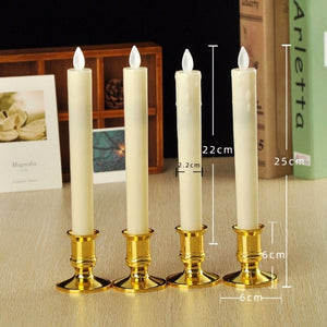 Homlly 3D LED Flickering Flame Slim Tall Candles (22cm)