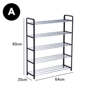 Homlly 5 Tier Tower Shoe Storage Rack with Protective Covers