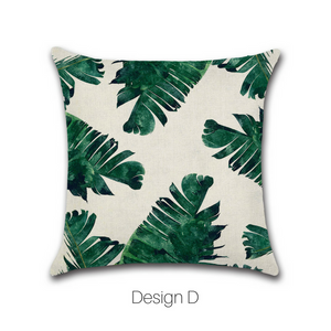 Homlly Hanalei Tropical Cushion Cover