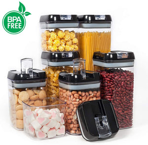 Homlly BPA Free Air tight Plastic Food Storage Cereal Containers (7 pieces)