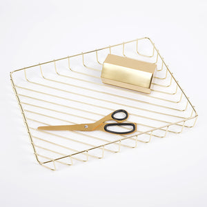 Keii Gold Lined Document Tray