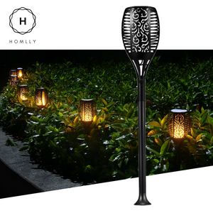 Gardi Hollow Solar LED Dancing Flame Standing Torch Light - Homlly