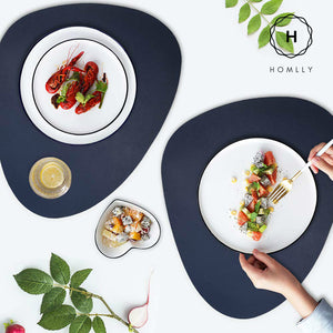 Homlly Leather Placemat & Coaster (2pcs Set)
