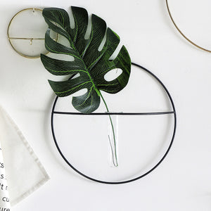 Homlly Circle Wrought Iron Wall Plant Decoration