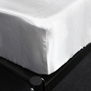 Homlly Hypoallergenic Breathable Soft Silky Satin Pillow Bedsheet Set