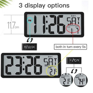Homlly Large Digital Alarm Clock w Date (36*15cm)